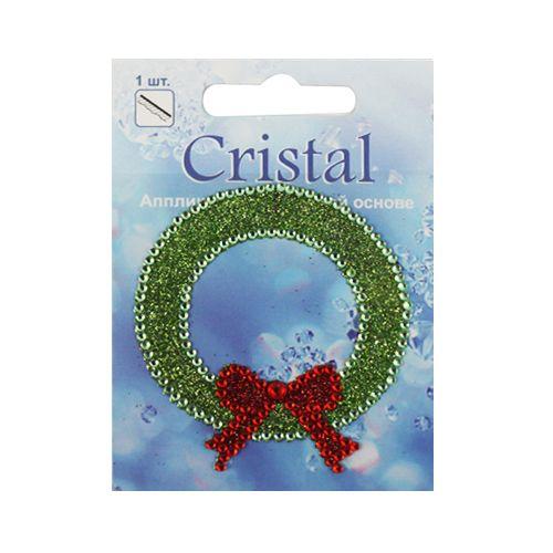 18208 Аппликация на клеевой основе,'Рождественский венок',Cristal