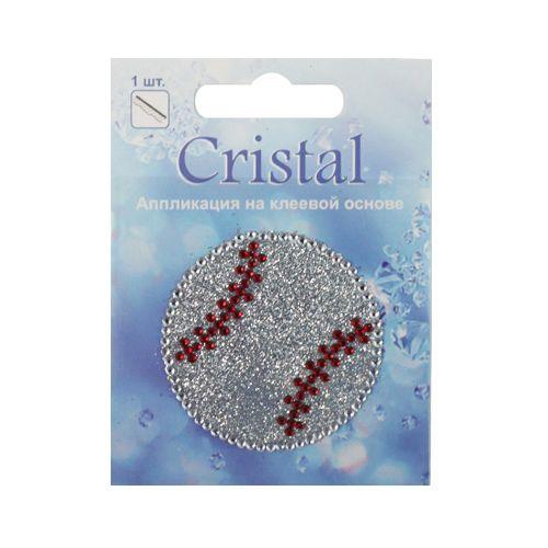 18209 Аппликация на клеевой основе,'Мяч',Cristal