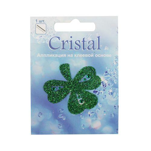 18211 Аппликация на клеевой основе,'Клевер',Cristal
