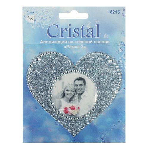 18215 Аппликация на клеевой основе,'Рамка-3',Cristal