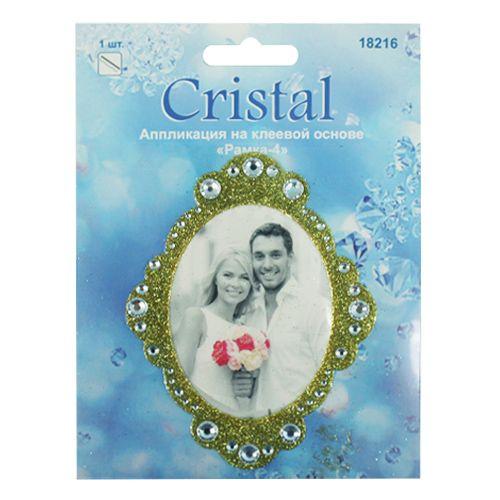 18216 Аппликация на клеевой основе,'Рамка-4',Cristal