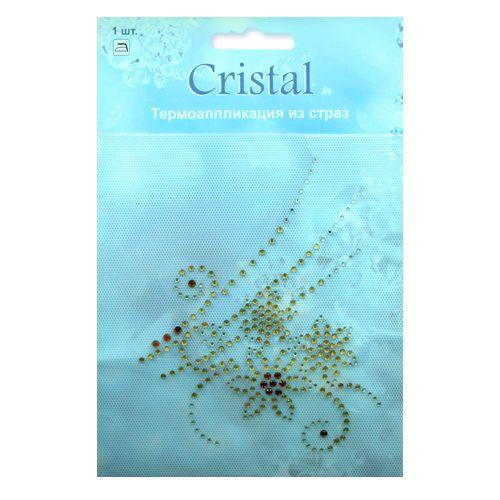 18404 Термоаппликация из страз,Cristal