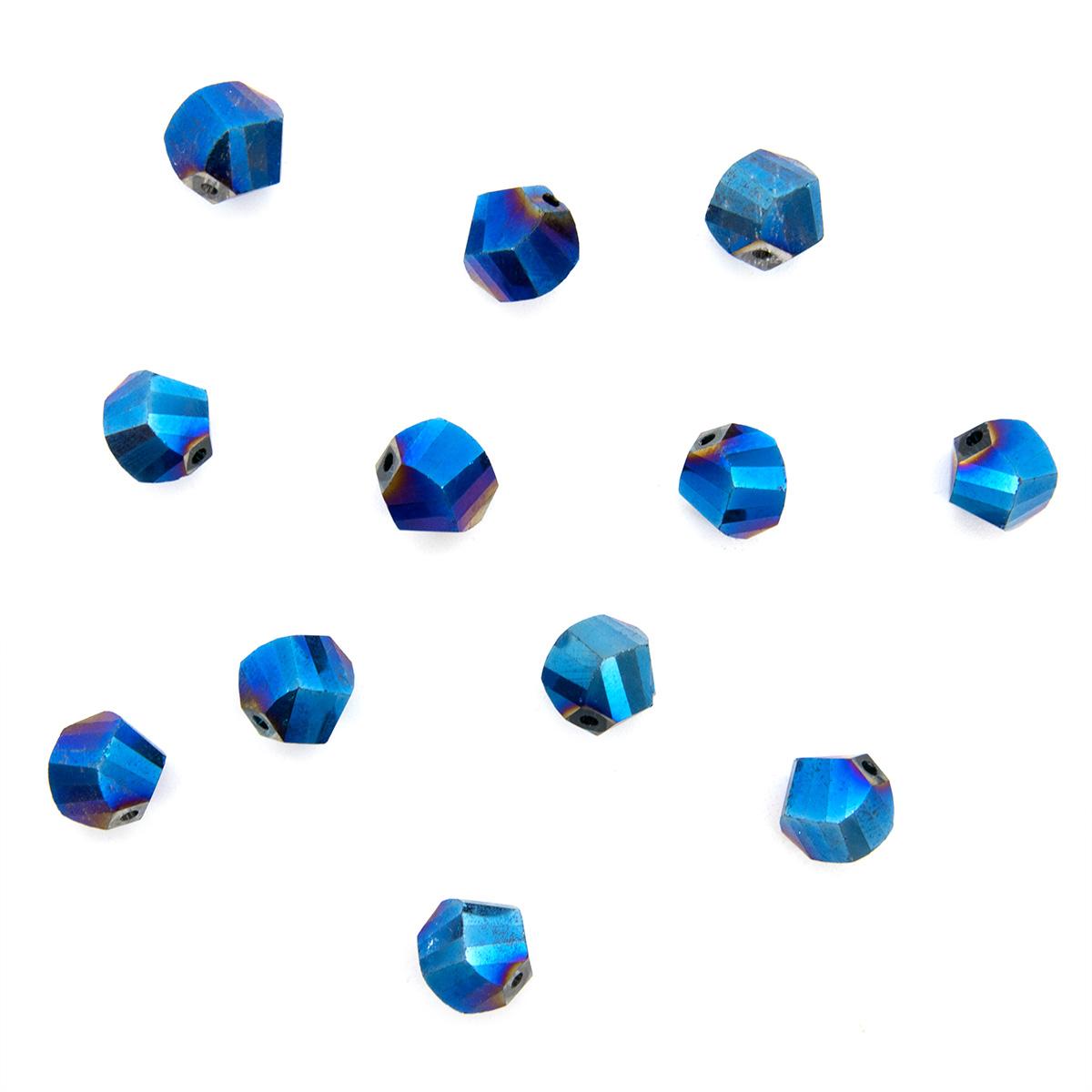 11334 Бусины стеклянные, 10 мм, упак./12 шт., Астра Premium (1-голубой) фото