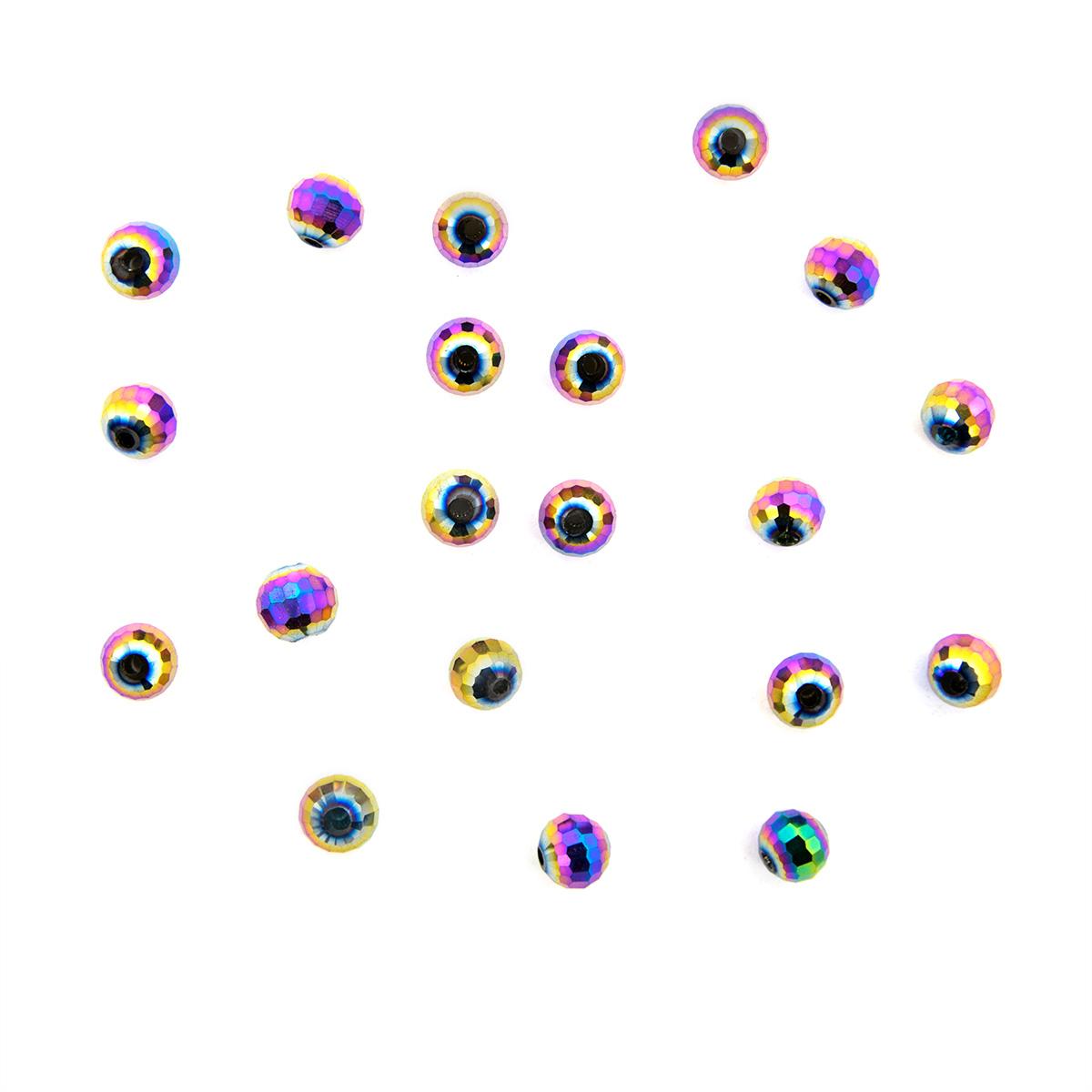 11378 Бусины стеклянные, 6 мм, упак./20 шт., Астра Premium
