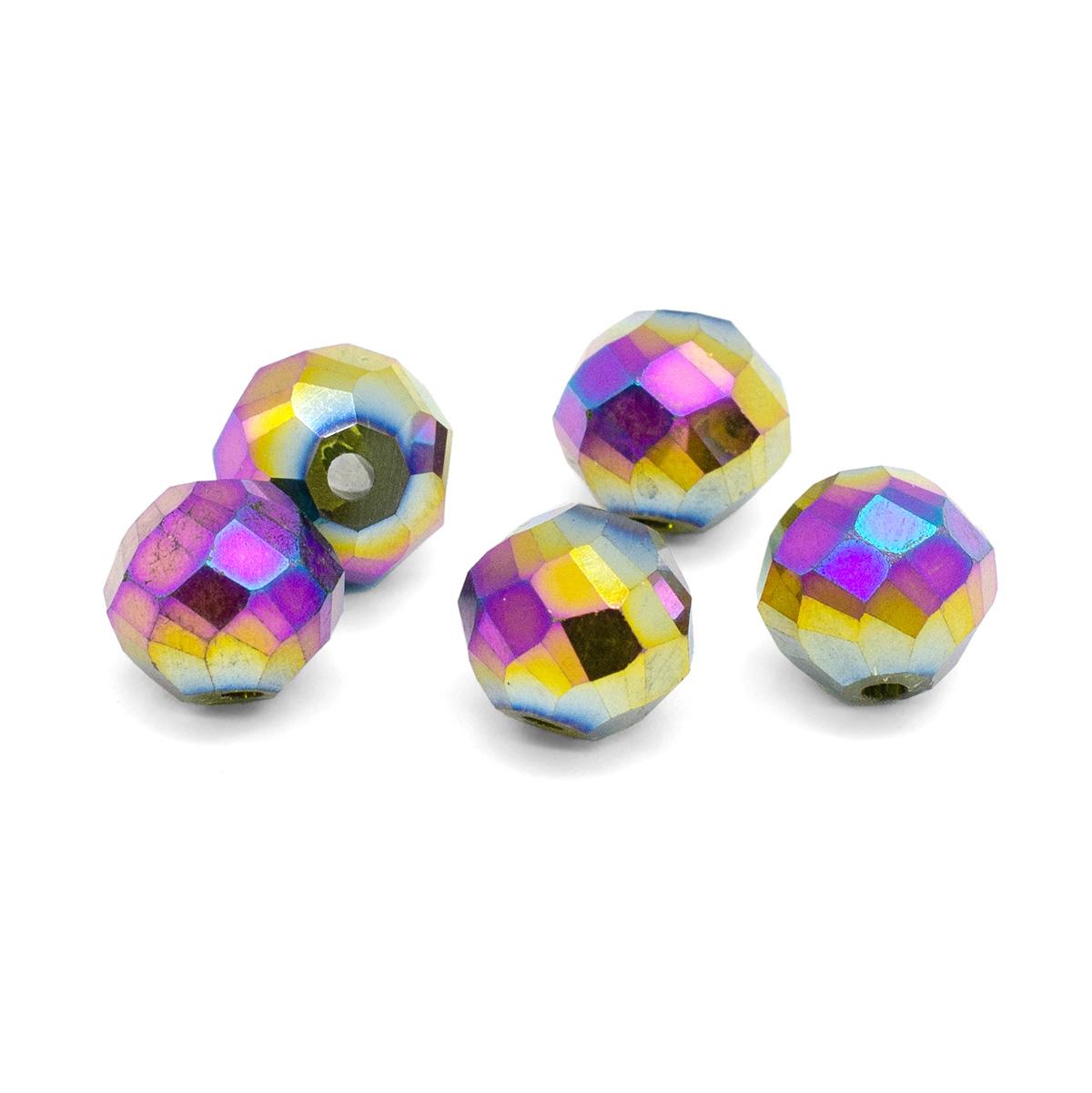 11393 Бусины стеклянные, 12 мм, упак./5 шт., Астра Premium