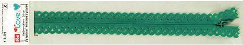 418206 Застежка-молния декоративная Prym Love S11 20cм, зеленый цв. 1шт Prym