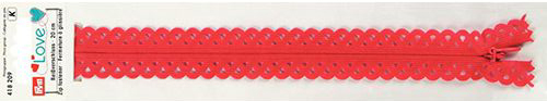 418209 Застежка-молния декоративная Prym Love S11 20cм, красный цв. 1шт Prym
