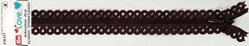 418211 Застежка-молния декоративная Prym Love S11 20cм, коричневый цв. 1шт Prym