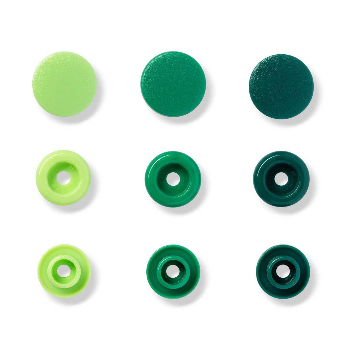 393001 Kнопки Color Snaps PrymLove, зеленый цв., 12мм, 30шт Prym