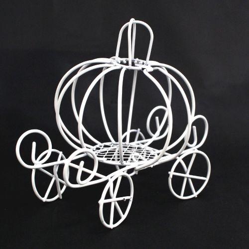 Металлическая мини-карета (тыква), 11 см