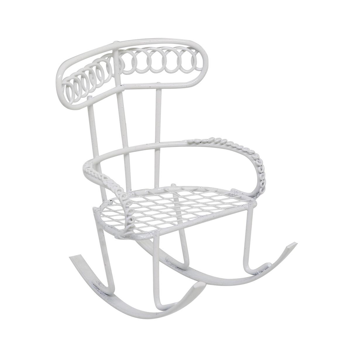 K9020 Металлическое кресло-качалка, 6*9*7 см