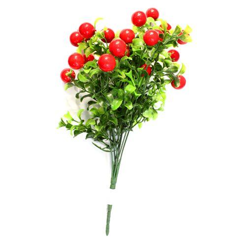 Декоративный элемент 'Ветка с ягодами', 32 см