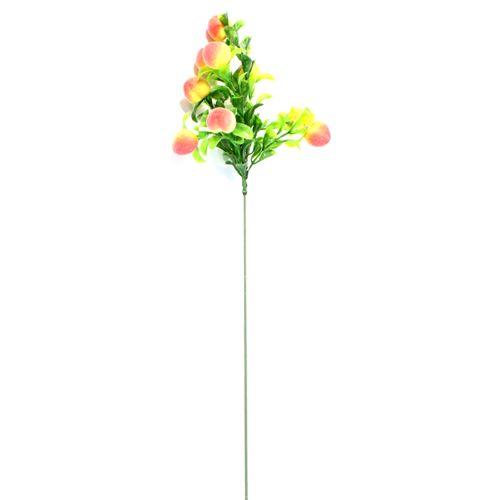 Декоративный элемент 'Ветка с персиками' (20 мм), 62 см