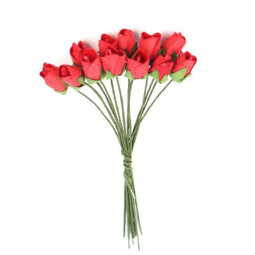 Бутоньерки бумажные 'Розы', 9,5 см