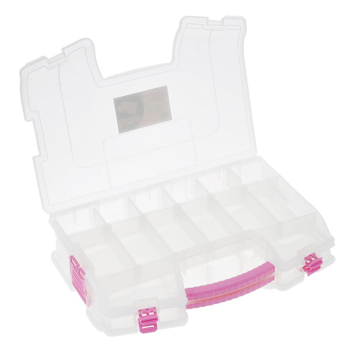 Органайзер для хранения двухсторонний с 34 регулируемыми отделениями 930532, 36,5x24,5x8,4 см, Hobby&Pro