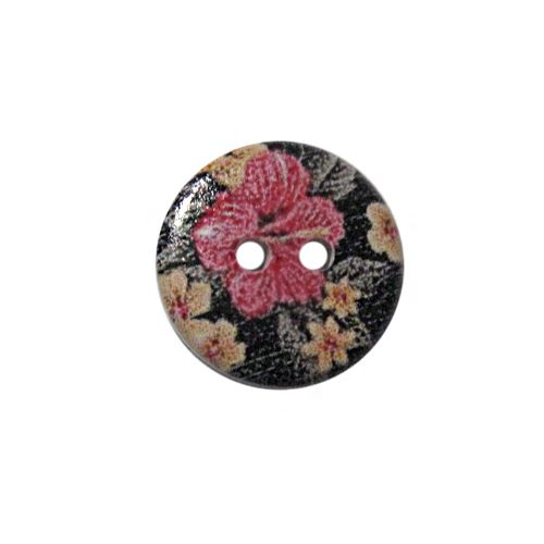 Пуговица деревянная, Цветы 18мм (цвет 301) фото