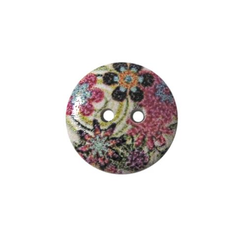 Пуговица деревянная, Цветы 15мм (цвет 216) фото