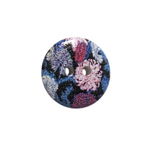 Пуговица деревянная, Цветы 15мм (цвет 7) фото