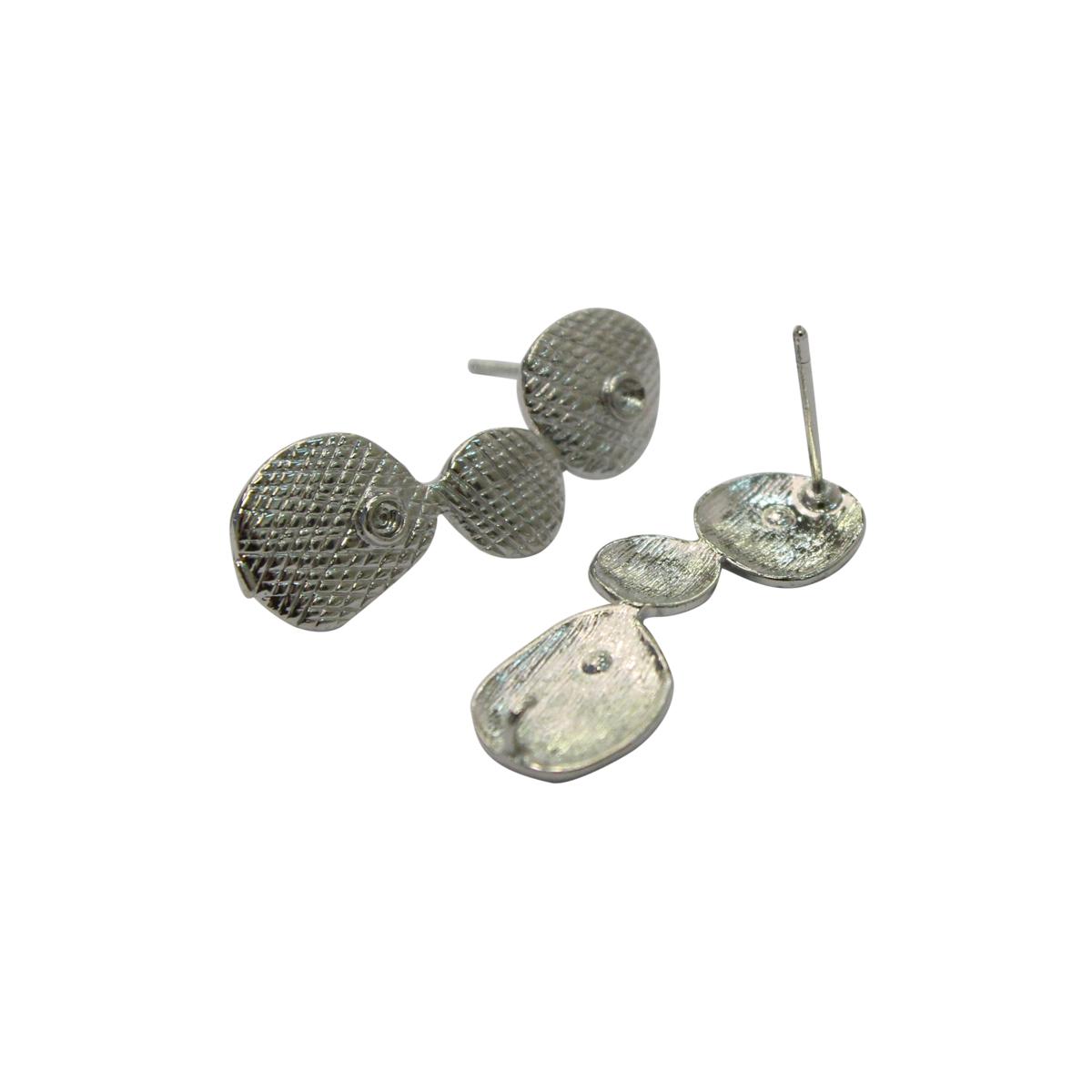 54-P7772 Основа для серег, 10*25 мм, упак./2 шт., 'Астра'