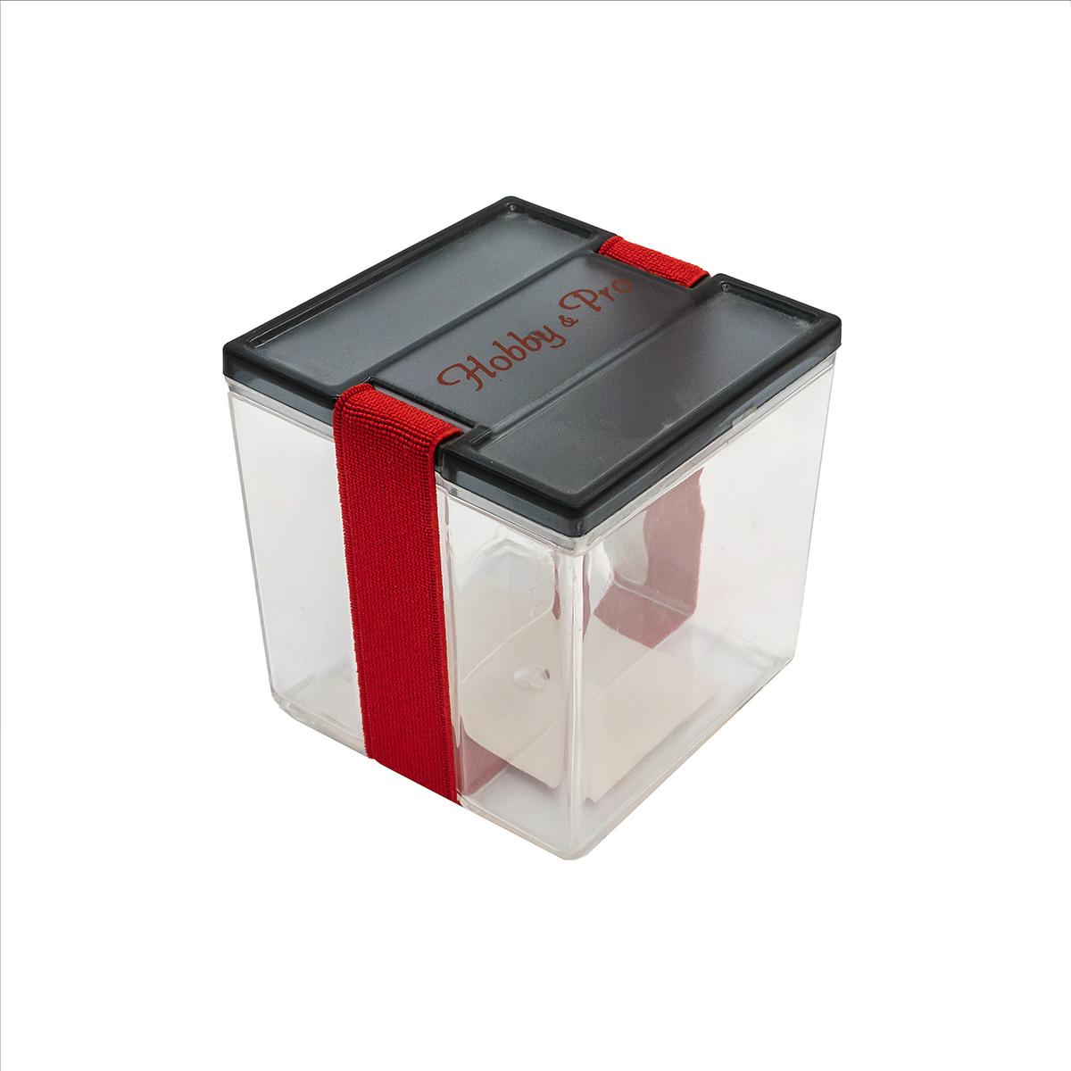 930538 Контейнер для мелочей с фиксирующей резинкой, 8,5*8,5*9 см, Hobby&Pro