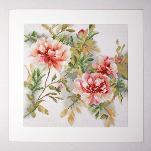 0008127-PN (35058) Набор для вышивания LanArte 'Розы' 40x40 см