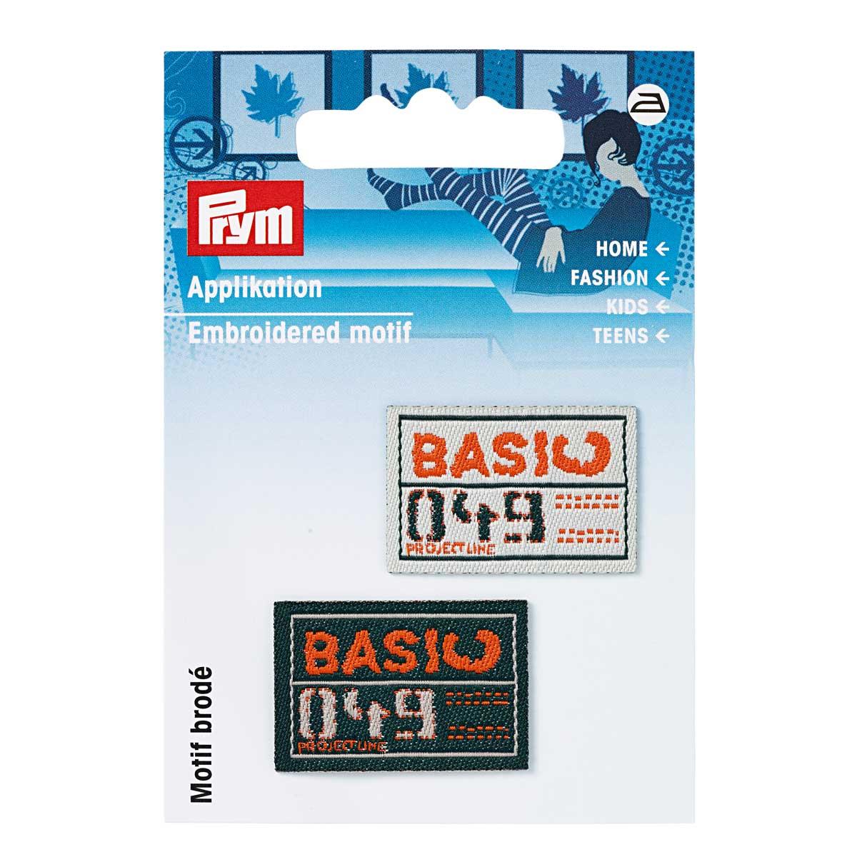 926037 Термоаппликация 'Эмблемы BASIC' зел./экрю 2шт. Prym