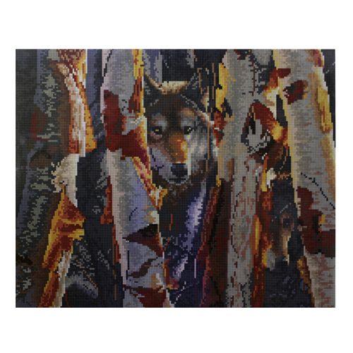 GZ053 Мозаика на деревянной основе 'В засаде', 40*50см фото