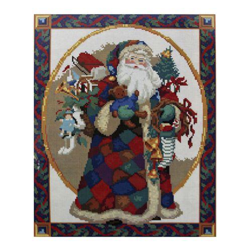 GZ028 Мозаика на деревянной основе 'Санта Клаус', 40*50см