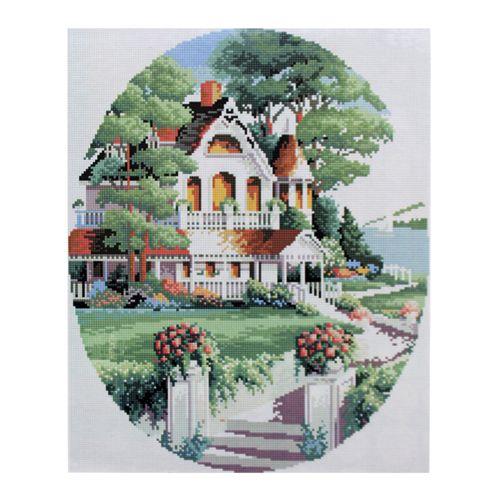 GZ026 Мозаика на деревянной основе 'Дом за городом 2', 40*50см