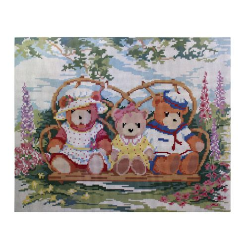 GZ061 Мозаика на деревянной основе 'Плюшевые мишки', 40*50см
