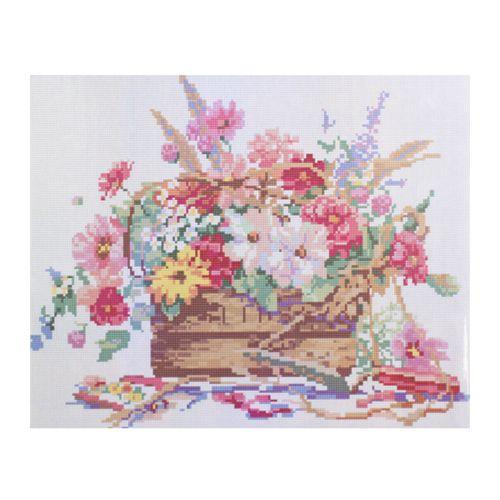 GZ062 Мозаика на деревянной основе 'Полевые цветы 2', 40*50см