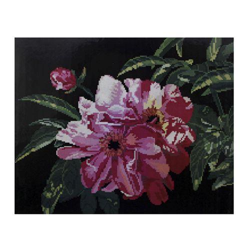GZ065 Мозаика на деревянной основе 'Розовые цветы', 40*50см