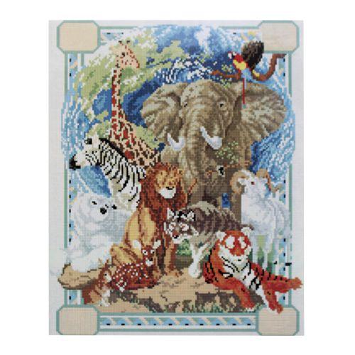 GZ074 Мозаика на деревянной основе 'Зоопарк', 40*50см