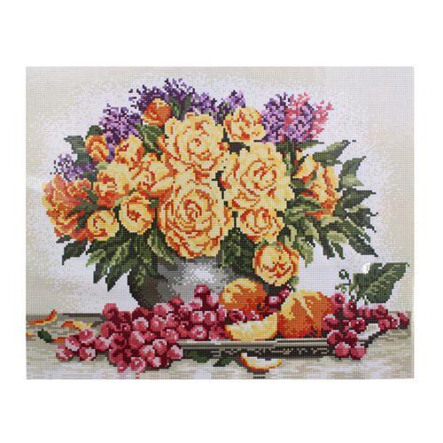 GZ001 Мозаика на деревянной основе 'Жёлтые розы', 40*50см