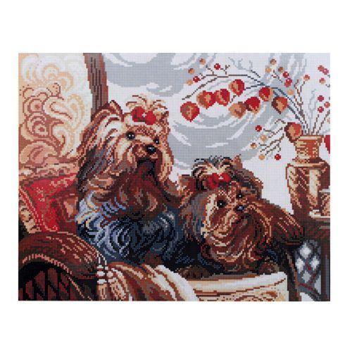 GZ004 Мозаика на деревянной основе 'Йорки', 40*50см