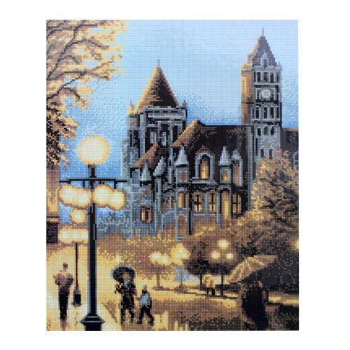 GZ008 Мозаика на деревянной основе 'Замок', 40*50см