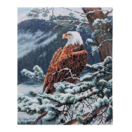 GZ073 Мозаика на деревянной основе 'Орёл', 40*50см