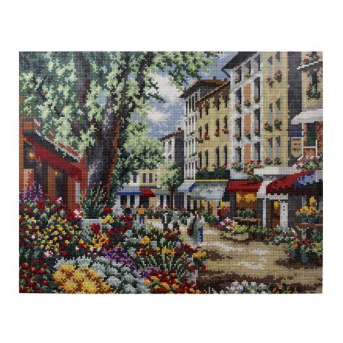 GZ014 Мозаика на деревянной основе 'Городская улочка 2', 40*50см
