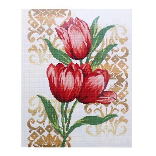 GZ020 Мозаика на деревянной основе 'Тюльпаны', 40*50см