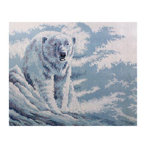 GZ076 Мозаика на деревянной основе 'Белый мишка', 40*50см