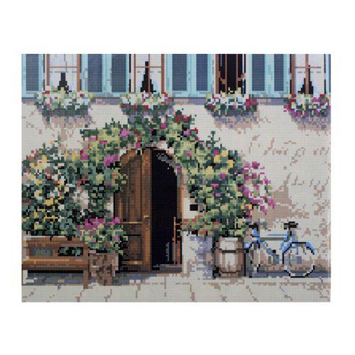 GZ078 Мозаика на деревянной основе 'Стена в цветах', 40*50см