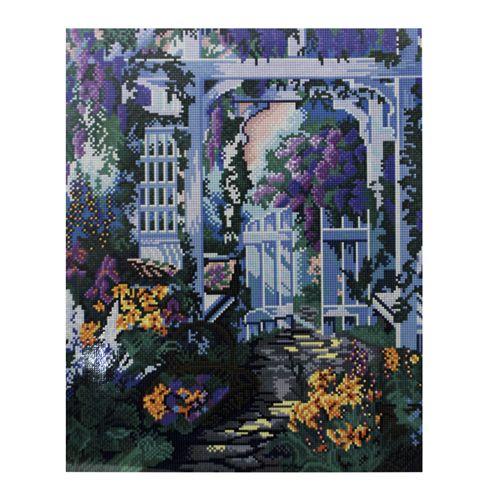 GZ302 Мозаика на деревянной основе 'В саду', 40*50см