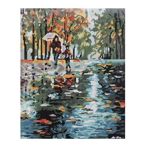 GZ253 Мозаика на деревянной основе 'Под дождем', 40*50см