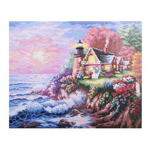 GZ241 Мозаика на деревянной основе 'Маяк', 40*50см