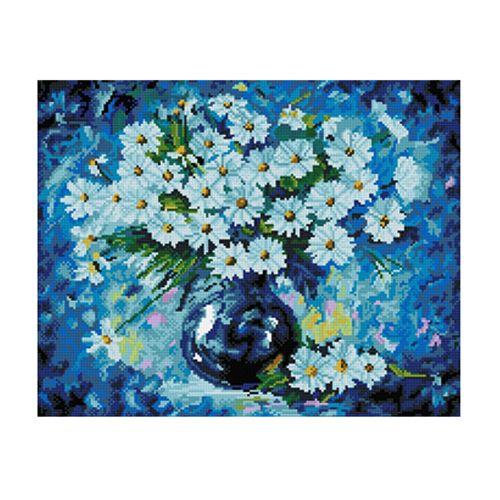GZ250 Мозаика на деревянной основе 'Голубая симфония', 40*50см