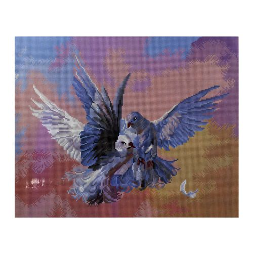GZ315 Мозаика на деревянной основе 'Голуби', 40*50см
