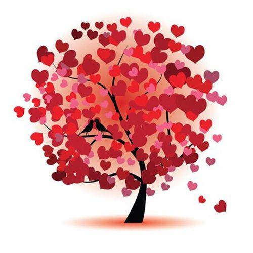 7652 Мозаика Cristal 'Дерево влюбленных', 43*43 см