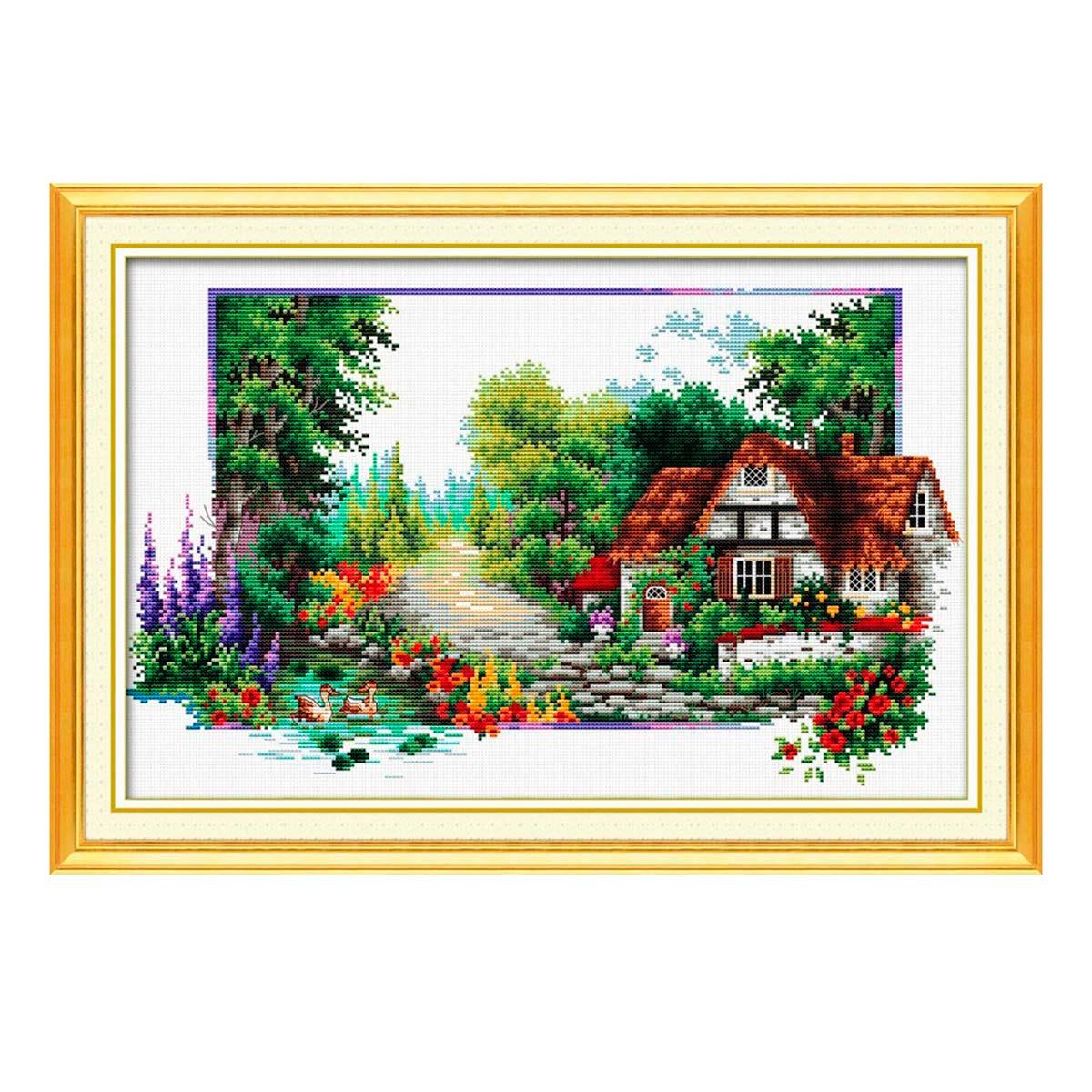 7528 Мозаика Cristal 'Домик в лесу 2', 65*40 см