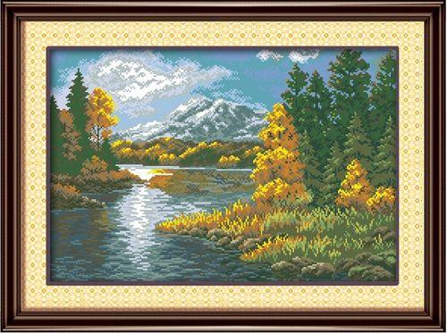 1309 Мозаика Cristal 'Лесное озеро', 58*40 см