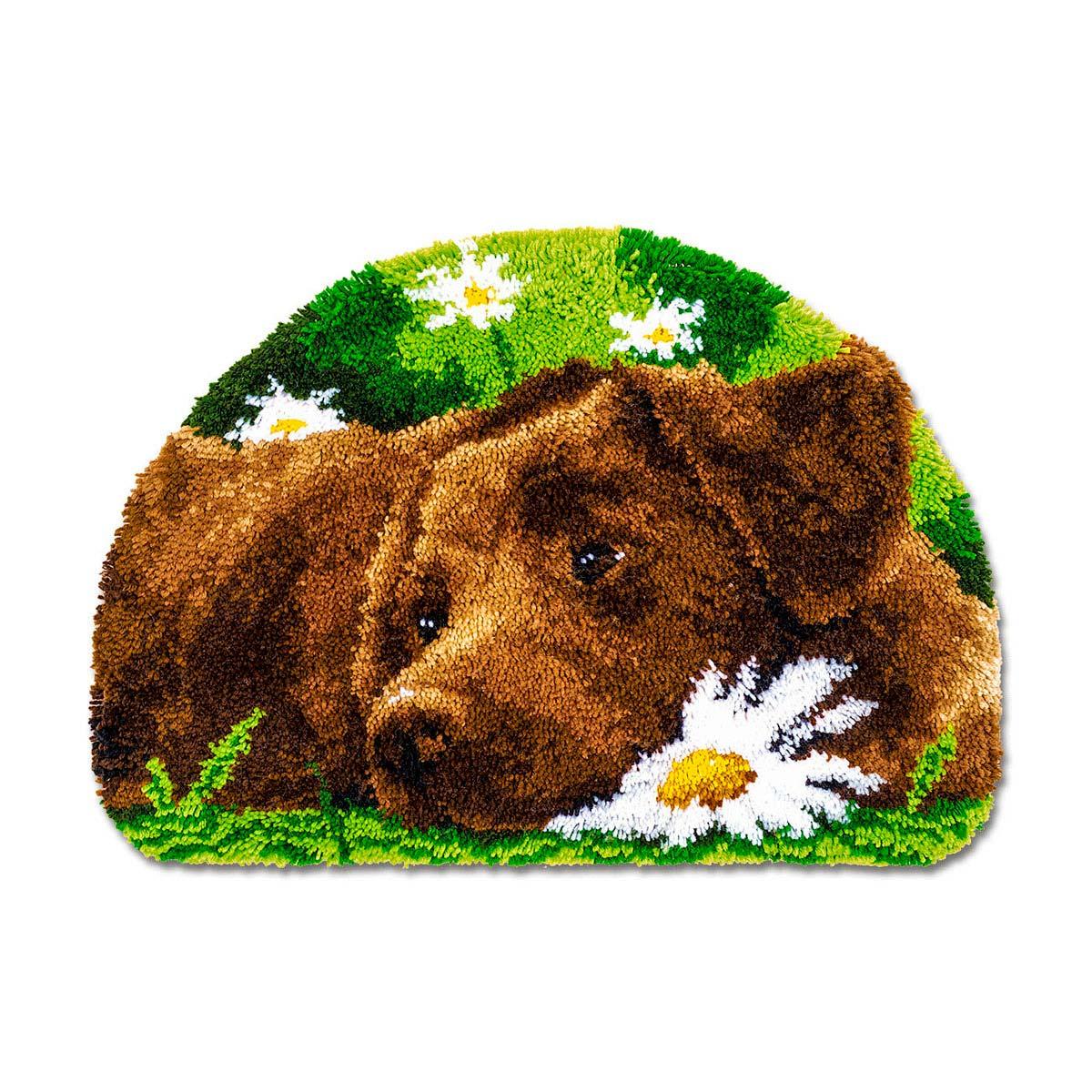 0153852-PN Коврик фигурный 69х46 см (ковровая техника) - комплект для вышивания Vervaco